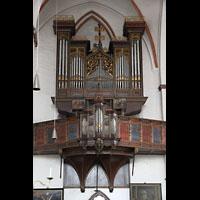Lübeck, St. Jakobi (Kleine Orgel), Stellwagen-Orgel im nördlichen Seitenschiff