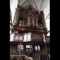Lübeck, St. Jakobi (Kleine Orgel), Große Orgel mit Empore