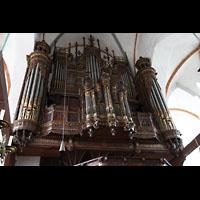 Lübeck, St. Jakobi (Kleine Orgel), Prospekt der Hauptorgel