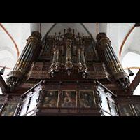 Lübeck, St. Jakobi (Kleine Orgel), Hauptorgel perspektivisch