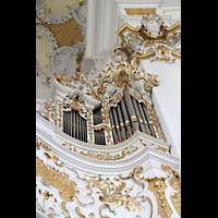 Steingaden - Wies, Wieskirche - Wallfahrtskirche zum gegeißelten Heiland, Rechtes Rückpositiv