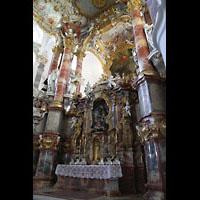 Steingaden - Wies, Wieskirche - Wallfahrtskirche zum gegeißelten Heiland, Altarraum