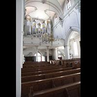 Kempten, St. Mang, Seitlicher Blick zur Hauptorgel
