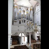 Kempten, St. Mang, Orgelempore seitlich