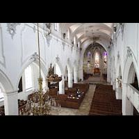 Kempten, St. Mang, Blick von der Orgelempore in die Kirche