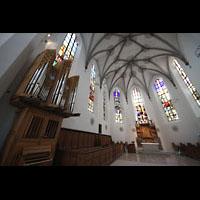 Kempten, St. Mang, Chorraum mit Chororgel
