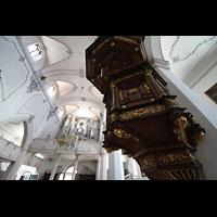 Kempten, St. Mang, Kanzel und Orgel
