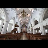 Kempten, St. Mang, Innenraum in Richtung Chor