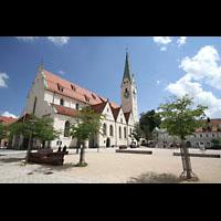 Kempten, St. Mang, St. Mang Platz mit Kirche
