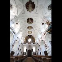 Irsee, Ehem. Abteikirche, Deckengemälde und Orgel