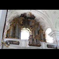 Irsee, Ehem. Abteikirche, Orgel seitlich