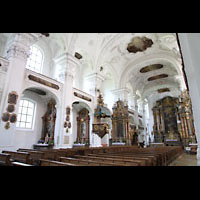 Irsee, Ehem. Abteikirche, Innenraum, Nordseite