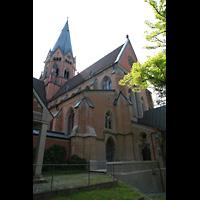 St. Ottilien, Erzabtei, Klosterkirche (Hauptorgel), Außenansicht von Westen
