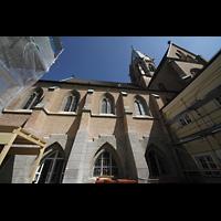 St. Ottilien, Erzabtei, Klosterkirche (Hauptorgel), Außenansicht seitlich