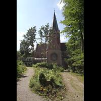 St. Ottilien, Erzabtei, Klosterkirche (Hauptorgel), Außenansicht aufs Querschiff