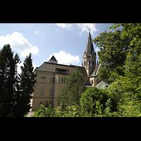 St. Ottilien, Erzabtei, Klosterkirche (Hauptorgel), Erzabtei Kirche und Teile des Klosters