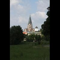 St. Ottilien, Erzabtei, Klosterkirche (Hauptorgel), Gesamtansicht außen