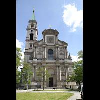 München - Sendling, St. Margaret, Fassade mit Turm