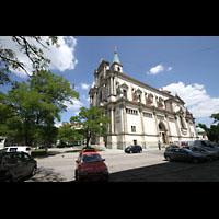 München - Sendling, St. Margaret, Ansicht vom Margaretenplatz