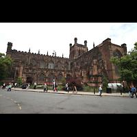 Chester, Cathedral, Außenansicht von Süden