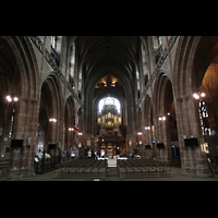 Chester, Cathedral, Querhaus in Richtung Orgel