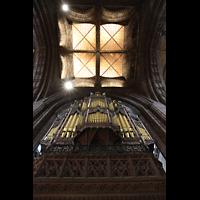 Chester, Cathedral, Orgel mit Blick ins Vierungsgewölbe