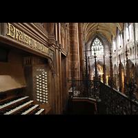Chester, Cathedral, Blick vom Spieltisch in den Chorraum