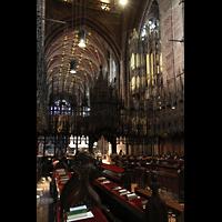 Chester, Cathedral, Chorraum, Nordseite mit Blick zur Orgel