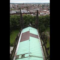 Chester, Cathedral, Blick vom Vierungsturm in Richtung Osten (Dach des Chorraums)