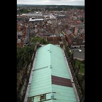 Chester, Cathedral, Blick vom Vierungsturm in Richtung Norden