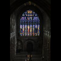 Chester, Cathedral, Großes Fenster an der Westwand