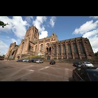 Liverpool, Anglican Cathedral (Hauptorgelanlage), Ansicht von Südosten mit Lady Chapel (rechts)