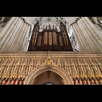 York, Minster (Cathedral Church of St Peter), Orgel auf dem Kings Screen