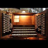 York, Minster (Cathedral Church of St Peter), Spieltisch in der Vierung