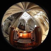 York, Minster (Cathedral Church of St Peter), Gesamtansicht mit Spieltisch