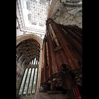 York, Minster (Cathedral Church of St Peter), Orgelgehäuse von der Brüstung aus gesehen