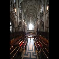 York, Minster (Cathedral Church of St Peter), Blick von der Orgel in den Chorraum