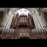 York, Minster (Cathedral Church of St Peter), Orgelprospekt von der Chorseite aus gesehen