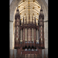 York, Minster (Cathedral Church of St Peter), Orgel (Chorseite)
