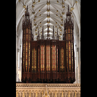 York, Minster (Cathedral Church of St Peter), Orgel (Langhausseite)