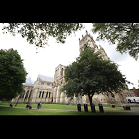 York, Minster (Cathedral Church of St Peter), Außenansicht von Nordwesten