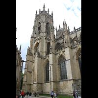 York, Minster (Cathedral Church of St Peter), Blick vom Süden auf die Türme