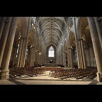 York, Minster (Cathedral Church of St Peter), Innenraum in Richtung Westen (Rückwand)
