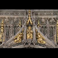 York, Minster (Cathedral Church of St Peter), Figuren auf der Spitze des King's Screen über dem Durchgang zum Chor