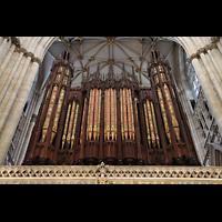 York, Minster (Cathedral Church of St Peter), Orgelprospekt (Langhausseite)