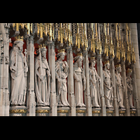 York, Minster (Cathedral Church of St Peter), Rechte Figurenreihe des King's Screen