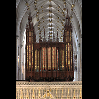York, Minster (Cathedral Church of St Peter), Lettner (King's Screen) mit Orgel