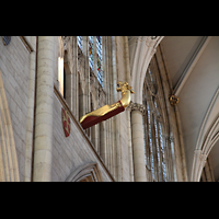 York, Minster (Cathedral Church of St Peter), Mittelalterliche Drachenfigur, möglicherweise eine Art Prahlerei