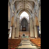 York, Minster (Cathedral Church of St Peter), Altarraum, Vierung, Lettner und Orgel