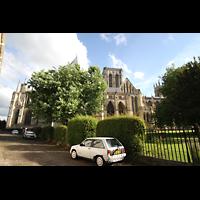 York, Minster (Cathedral Church of St Peter), Außenansicht von Nordern
